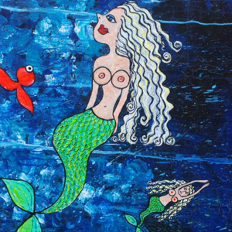 Dina Falbe udstiller malerier