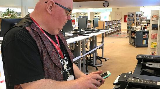 Fra mandag den 22. juni kan du printe fra eget device på Guldborgsund-bibliotekerne