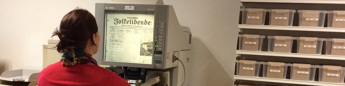 Mikrofilmlæseren er igen tilgængelig