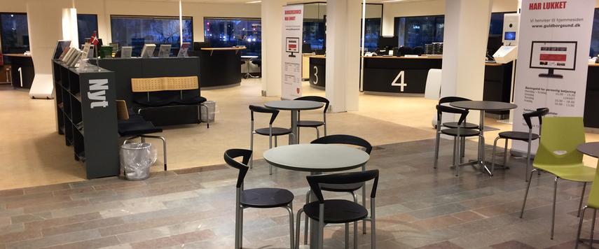 Borgerservice på Hovedbiblioteket i Nykøbing