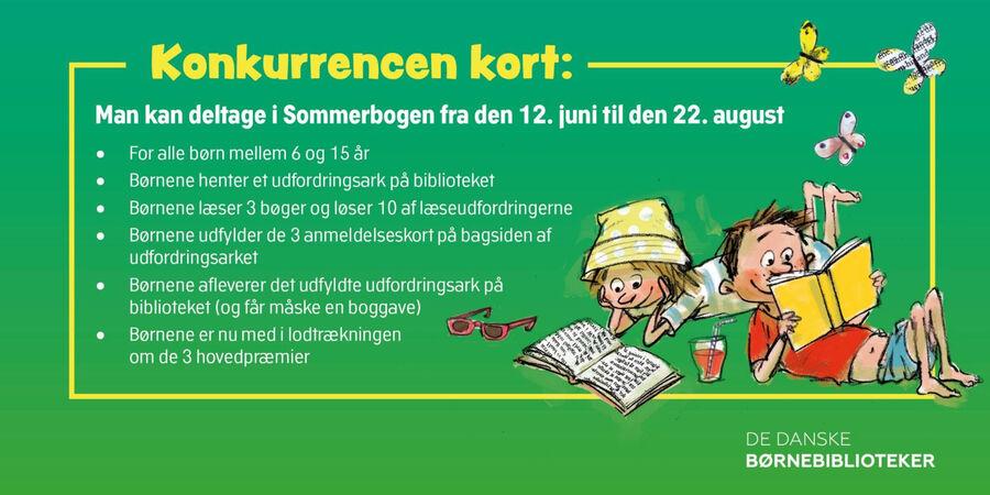 For at deltage i Sommerbogen, skal du læse og anmelde mindst tre bøger.