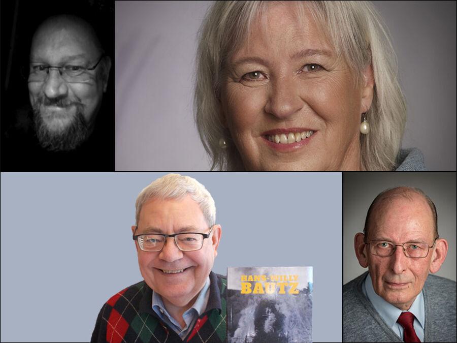 fire mennesker portrætfoto
