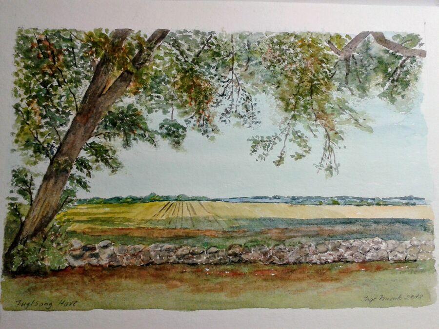 Inge Munk udstiller malerier på Nysted Bibliotek