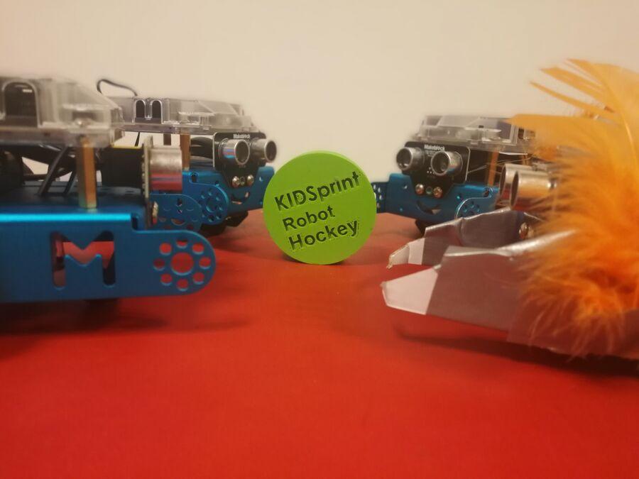 Giv den gas med robotter til Robothockey