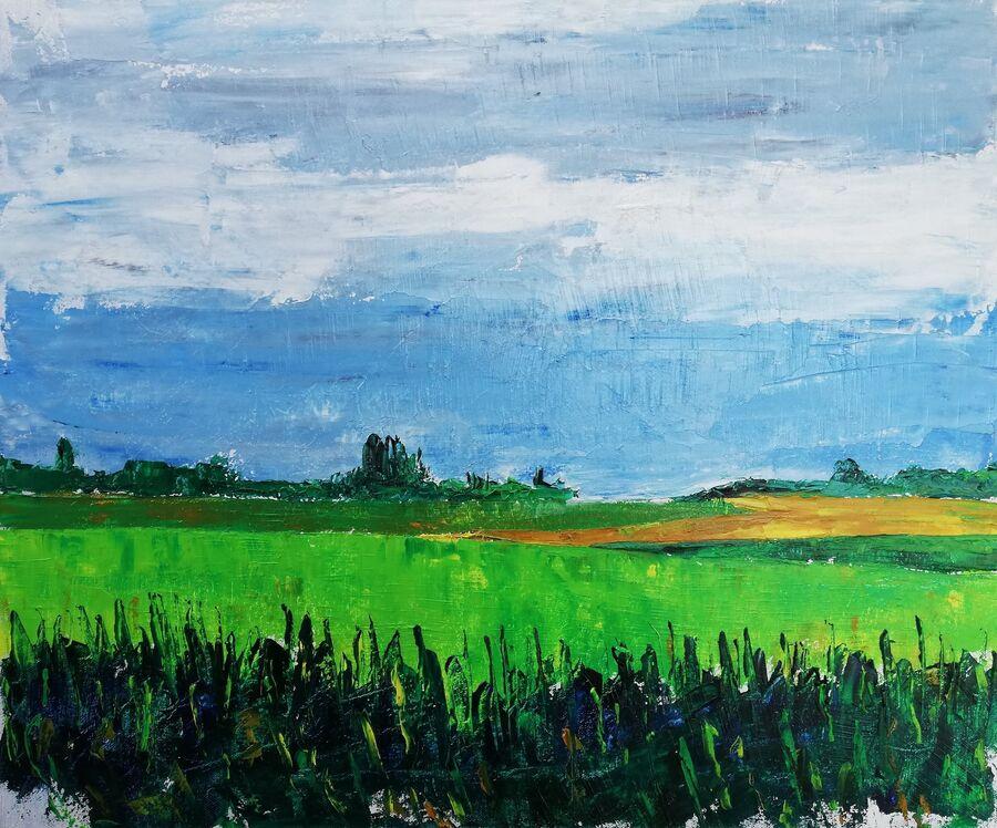 Sidsel Vadsholt udstiller malerier og tegninger