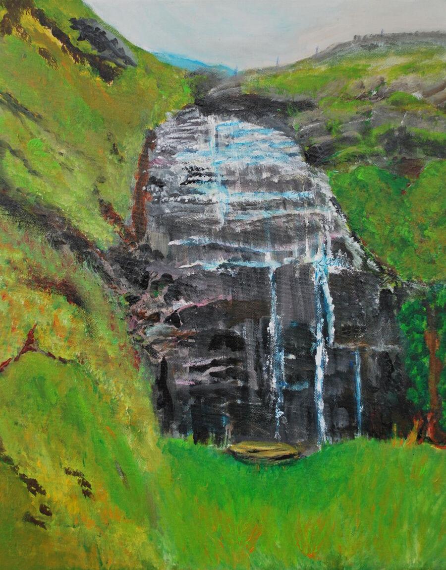 Birgit Refsgaard Madsen udstiller malerier malet med akryl