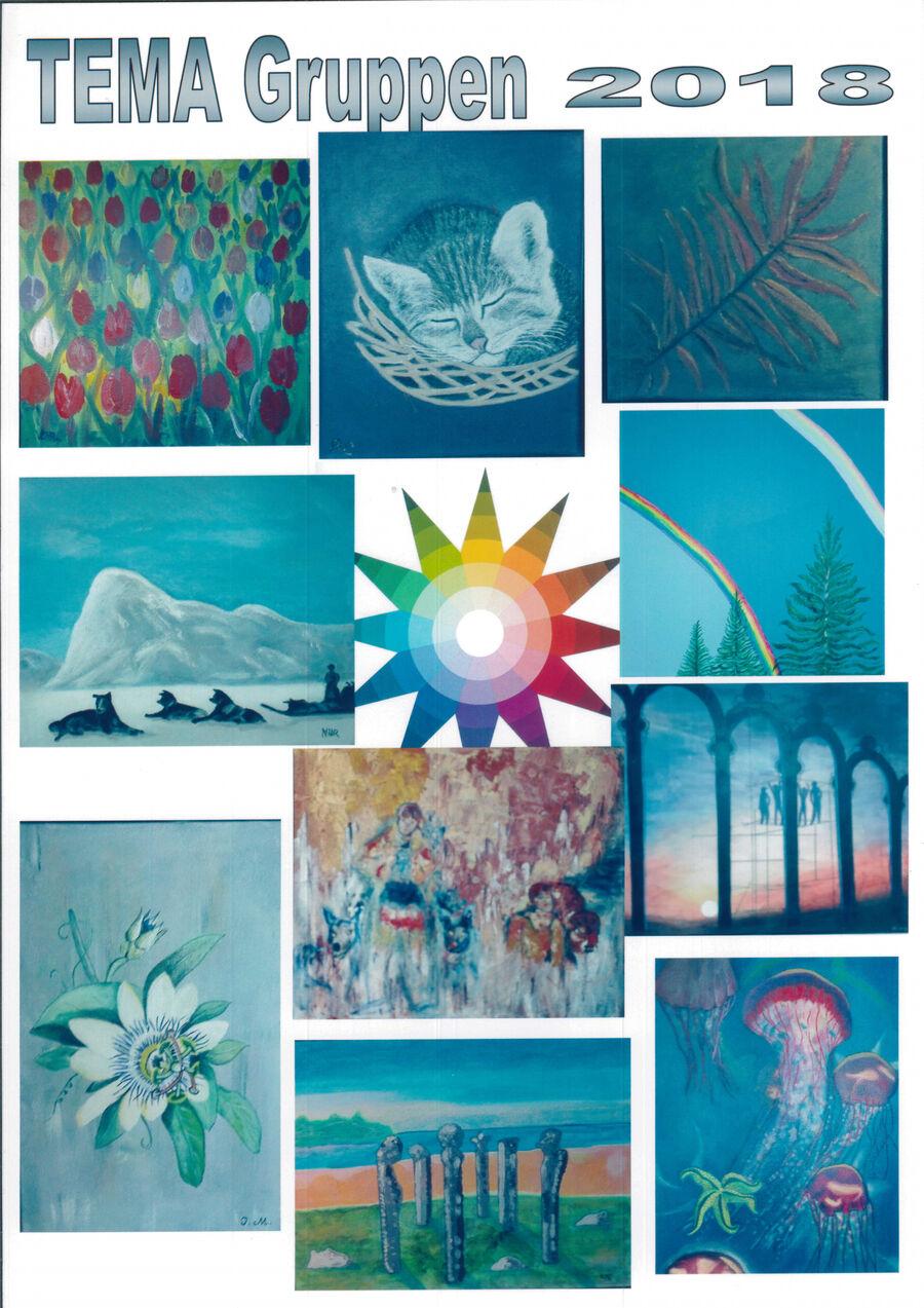 TEMA Gruppen udstiller malerier på Sakskøbing Bibliotek