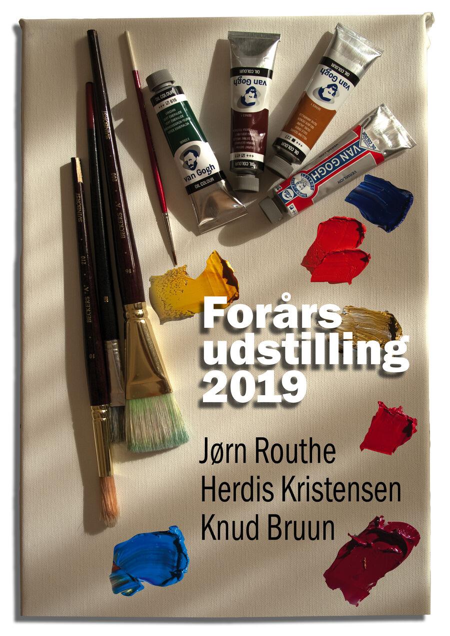 Tirsdagsmalerne udstiller malerier på Stubbekøbing Bibliotek