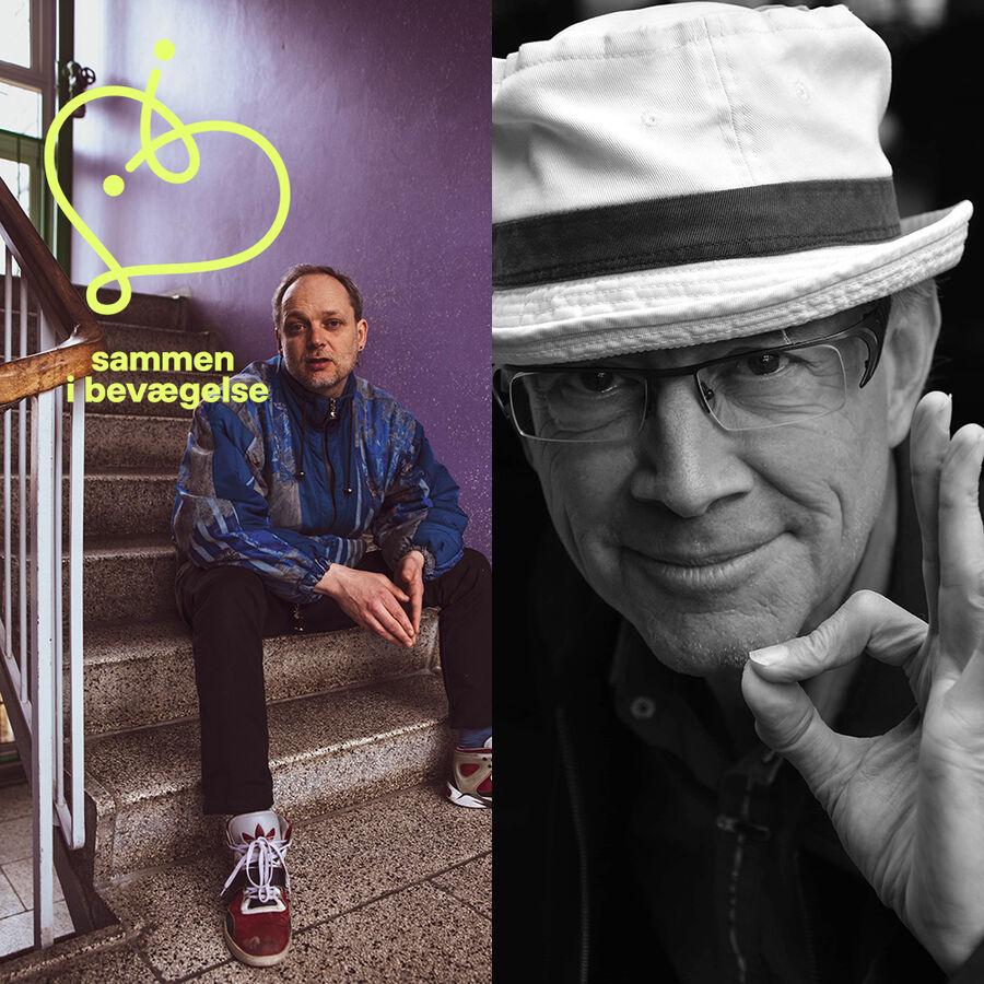 Portræt af forfatterne TS Høeg og Sternberg