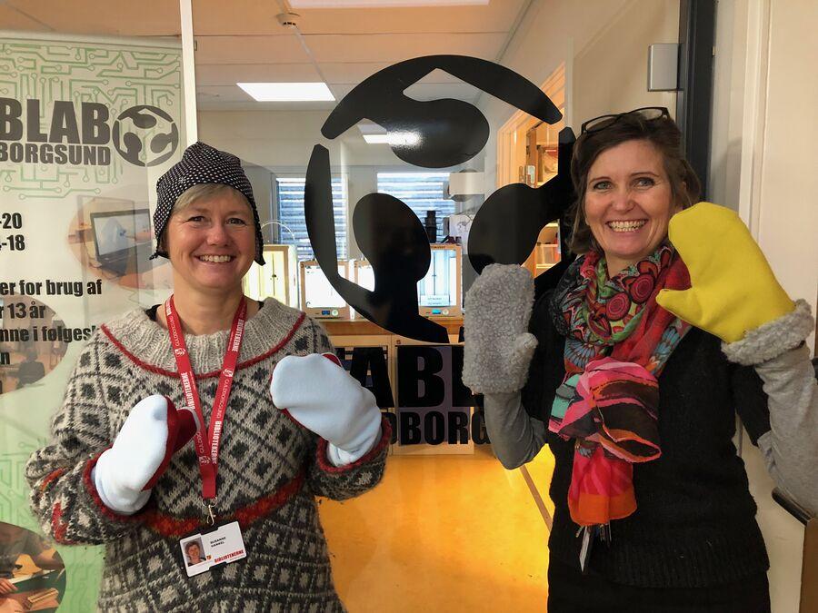 Tine og Susanne fra FabLab lærer dig, hvordan du syr beklædningsgenstande til vinteren