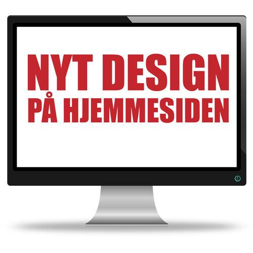 Hjemmesiden får nyt design