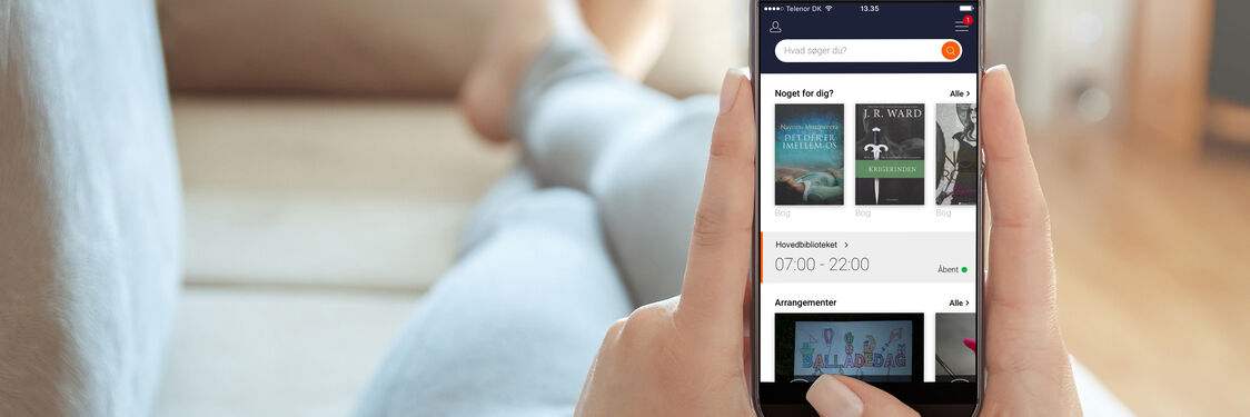 Få Biblioteket app'en på din smartphone